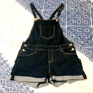 Papaya Black Juniors Large Short Jean Overalls